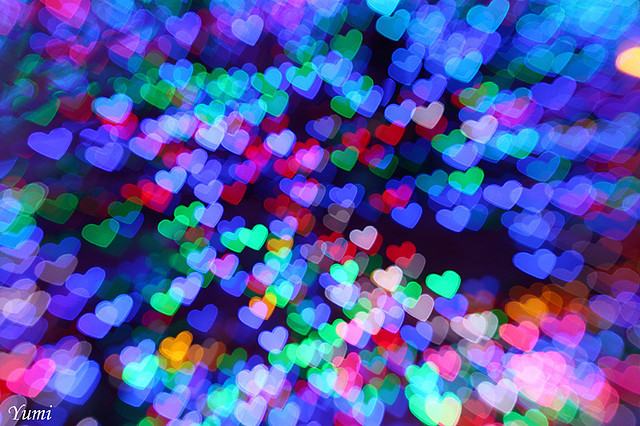 beatiful, blue, bokeh, colores, colors