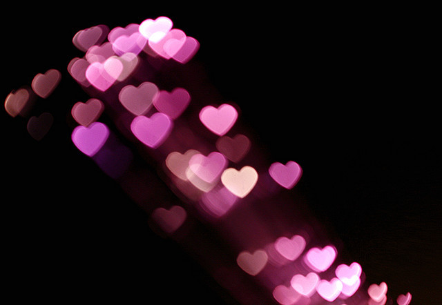 beatiful, bokeh, colors, heart, hearts