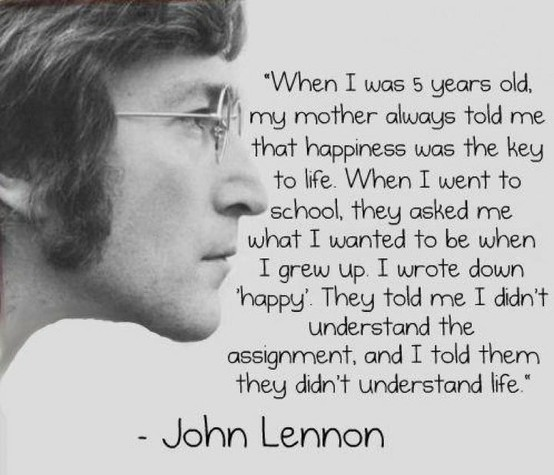 beatles, happiness, inspiration, inspiring, john lennon