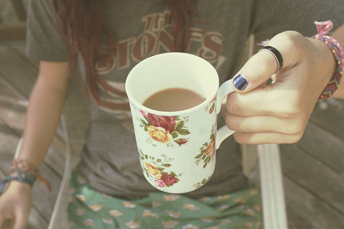beautiful, beauty, coffee, cup, cute, fashion, floral, girl, girls, girly, light, nature, photography, pretty, sweet