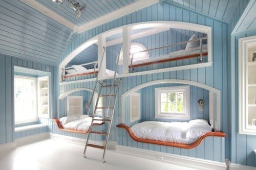 beautiful, bed, blue, room