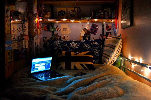 beautiful, bedroom, cute, light, room