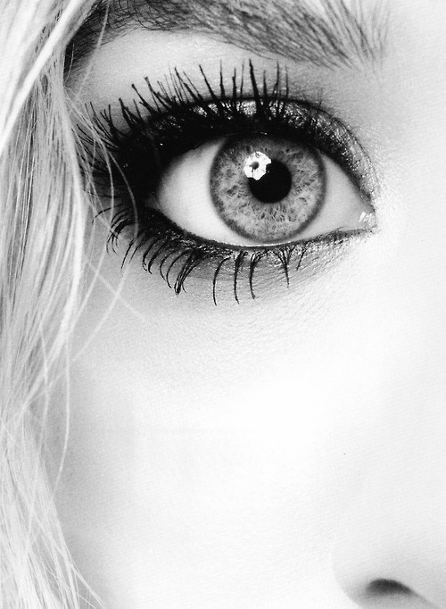 beautiful, black and white, eye, face, girl