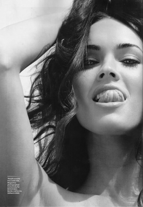 beautiful, black and white, fox, girl, megan, megan fox