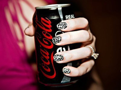 beautiful, black, black and white, coca cola, cute