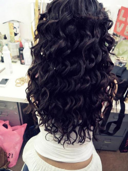 beautiful, black, curly hair, hair, long hair - image #429533 on Favim