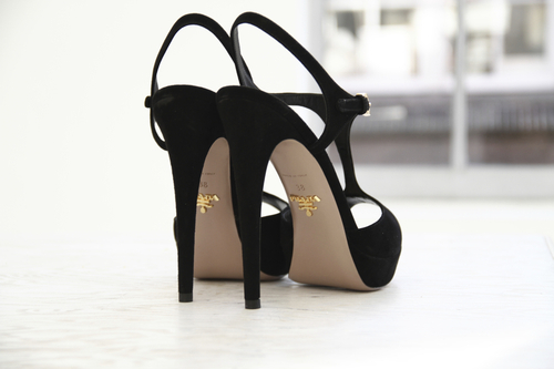 beautiful, black, gold, heels, high