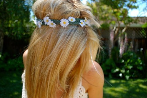 beautiful, blonde, girl, hair, headband, photography, sunflower