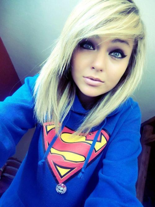beautiful, blonde, girl, hair, superman