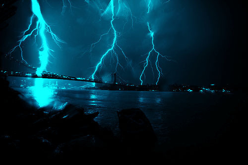 beautiful, blue, cute, light, lightning