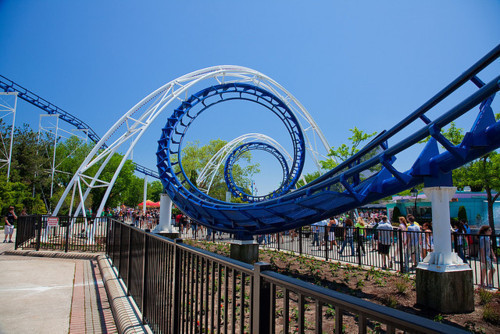 beautiful, blue, cute, montain, park, photo, photograph, photography, roller coaster, rollercoaster