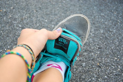 beautiful, blue, gray, photo, sneakers, vans