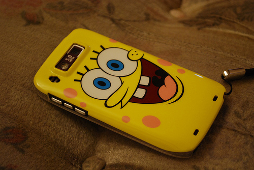 beautiful, bob esponja, cellular, cute, sponge bob