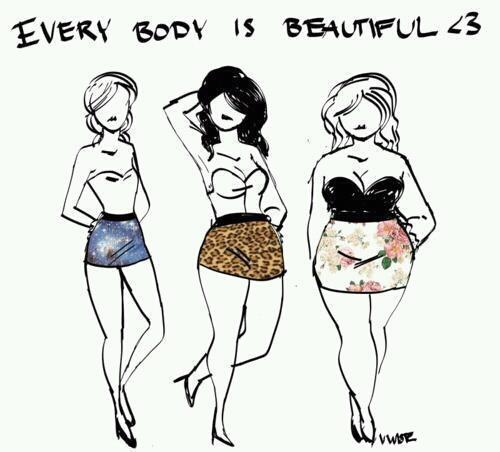 beautiful, body, drawings, everybody, fat