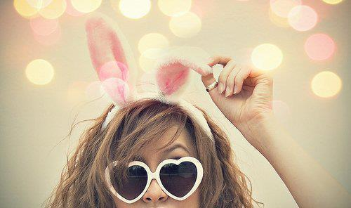 beautiful, bokeh, colour, cool, fashion, girl, glasses, hair, love, nice, photography, pink, pretty, rabbit, rebbit