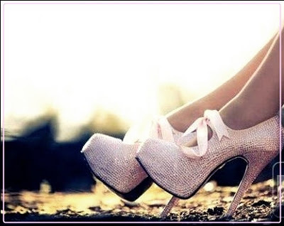 beautiful, bow, cute, fashion, girl, heels, pink, shine, shoes
