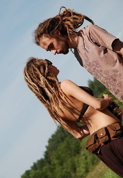 beautiful, boy, couple, cute, dreadlocks