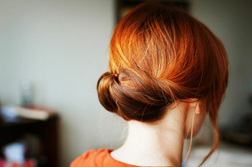 beautiful, bun, girl, hair, neck