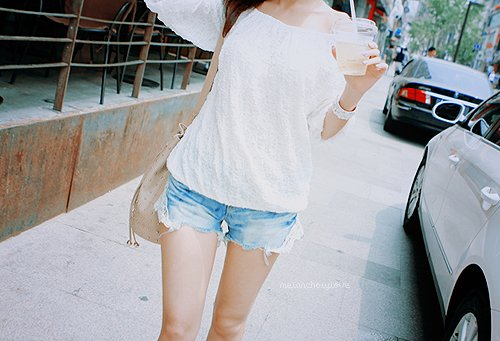 beautiful, clothes, drink, fashion, jeans, outfit, photography, pretty, shorts, style, white