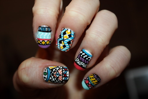 beautiful, colorful, nails