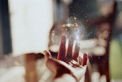 beautiful, colours, hand, magic, pretty