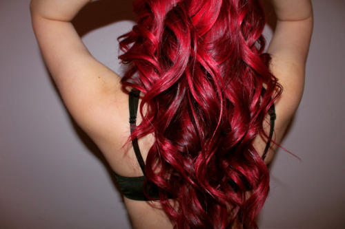 beautiful, cool, cute, dye, fashion, girl, hair, long, long hair, para pambam, perfect, photography, pretty, red, red hair, style, wavy hair