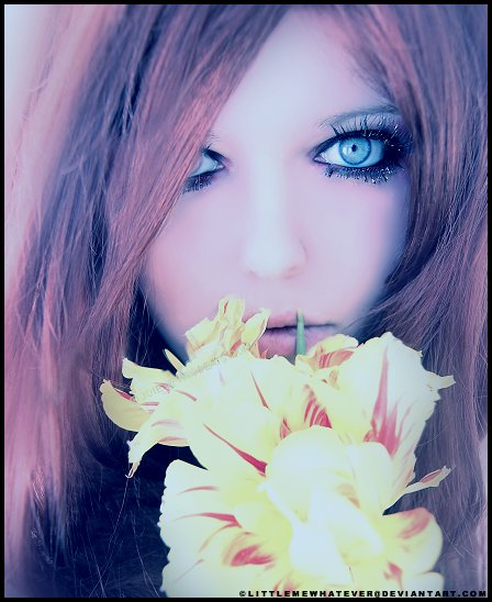 beautiful, cool, cute, eyes, flowers, girl, hair, nice, perfect, pretty