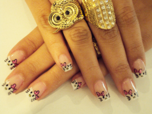beautiful, cool, cute, hello kitty, nails, owl, ring