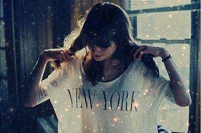 beautiful, cool, girl, lights, new york