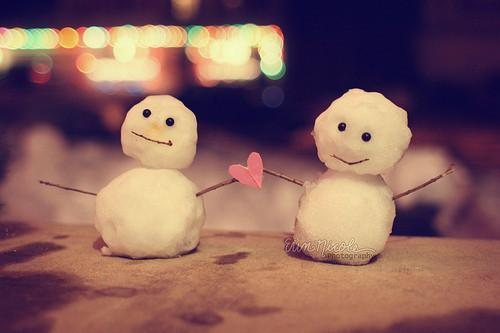 beautiful, cute, girl, heart, like, love, smile, snow, snowman, sweet, winter