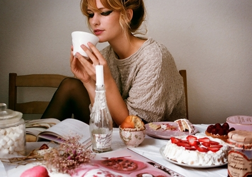 beautiful, cute, girl, house, love, tea