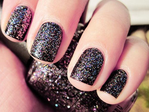 beautiful, dark, esmaltes mto lindos *-*, fashion, glitter