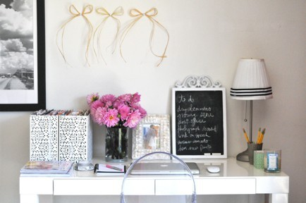 beautiful, decor, decoration, design, desk, flowers, girly, interior, lamp, mac, pink, pretty, white
