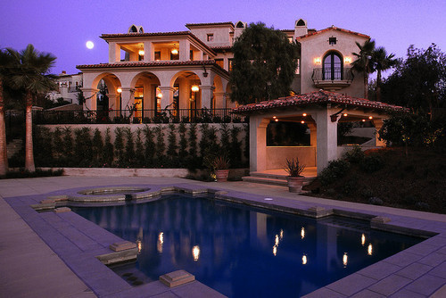 beautiful, expensive, home, house, luxurious, luxury, photo, pool, rich, sunset