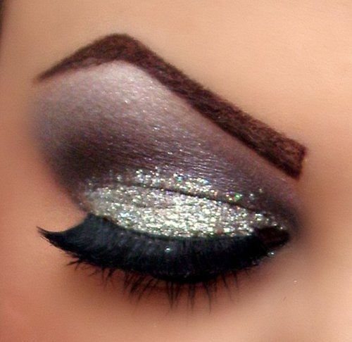 beautiful, eye, eye shadow, glitter, lashes