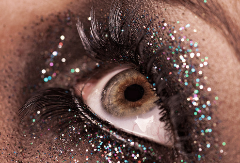 beautiful, eye, glitter, make up, mascara