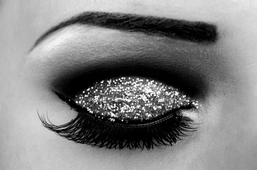 beautiful, eye lashes, eyeshadow, glitter, pretty