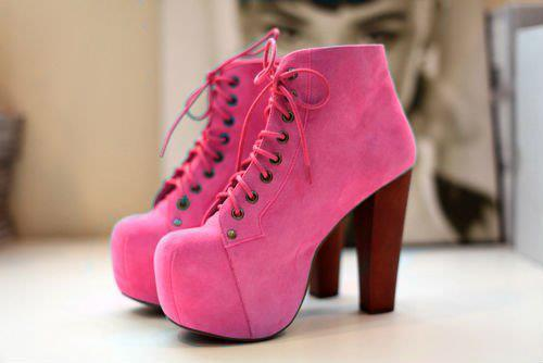 beautiful, fashion, high heels, pink, pink shoe - image #426436 on ...