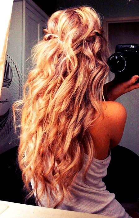 beautiful, girl, hair