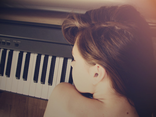 beautiful, girl, hair, music, photo, photography, piano, sexy, song