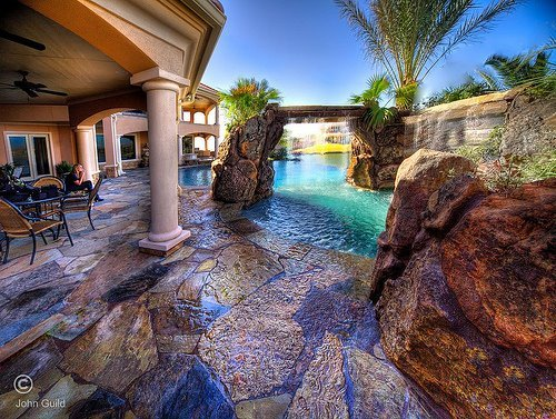 beautiful, house, pool