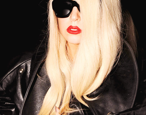 beautiful, lady gaga, red lips, sexy, sunglasses