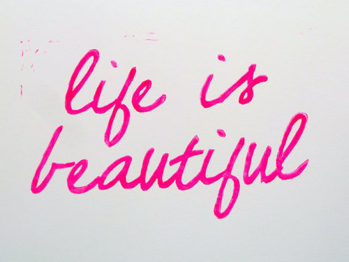 beautiful, life, pink, text, typography, words