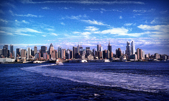 beautiful, new york city, ocean, skyline