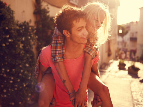 beautifull, blond, couple, cute, hug