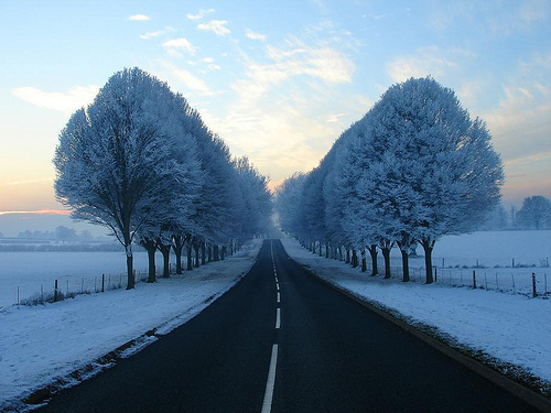 beauty, blue, life, nature, photography, road, sky, snow, winter