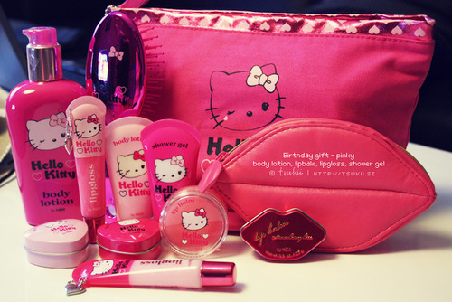 beauty, hello kitty, pink