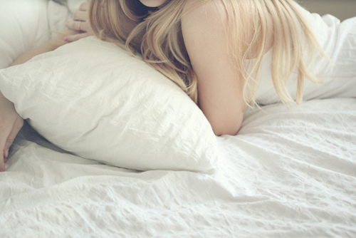 bed, bedroom, blonde, girl, hair