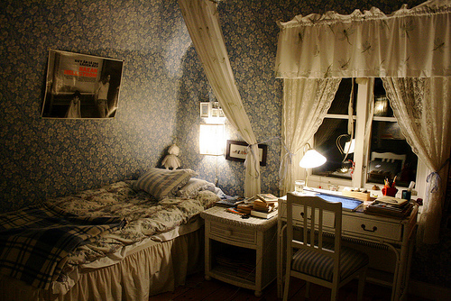 bed, bedroom, cute, hipster, indie, lights, photography, room