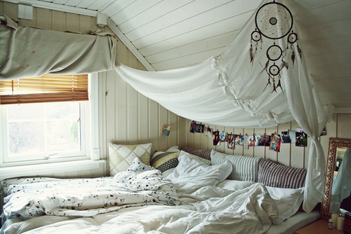 bed white, bedroom, dream catcher, quarto, room